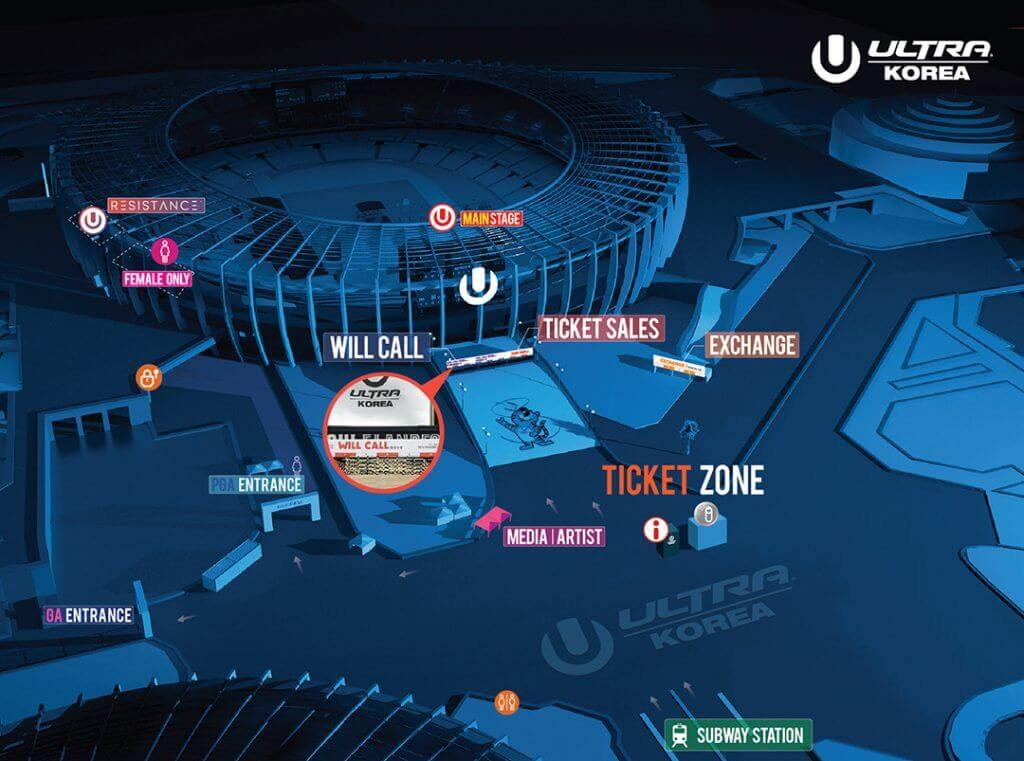 Ultra Korea 2018 Will Call